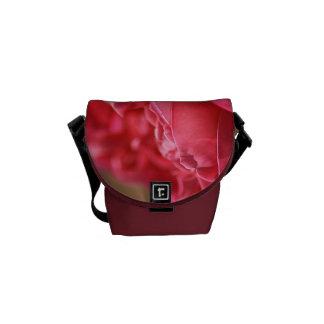 Hot Pink Rose - Mini Messenger Bag Outside Print