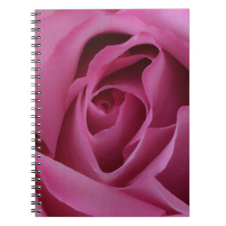 Hot Pink Rose Spiral Note Books