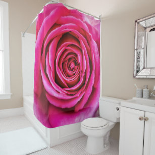 Pink Roses Shower Curtains | Zazzle