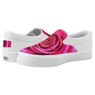 Hot Pink Rose Slip-On Sneakers