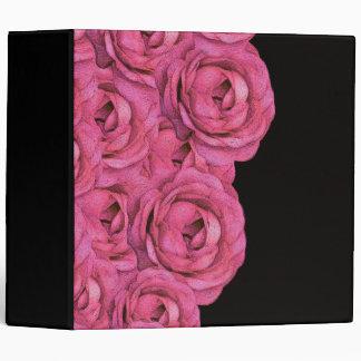 Hot Pink Roses 3 Ring Binder