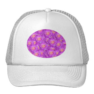 Hot pink roses trucker hat