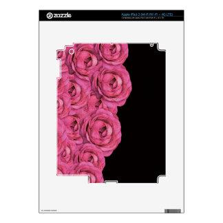 Hot Pink Roses iPad 3 Decals