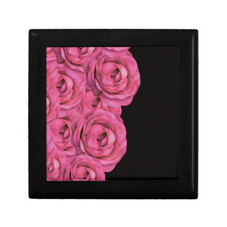 Hot Pink Roses Jewelry Box
