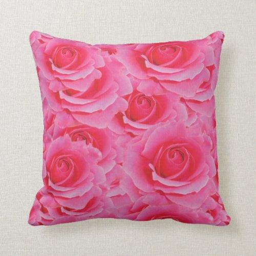 Hot Pink Roses Pillow ...