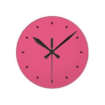 Hot Pink Round Clock