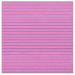 [ Thumbnail: Hot Pink & Royal Blue Pattern of Stripes Fabric ]