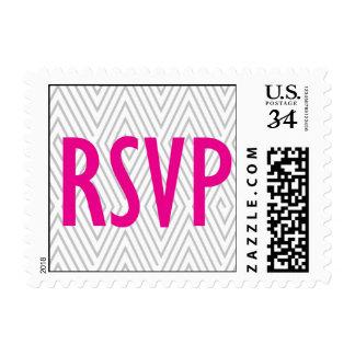 Hot Pink RSVP stamp