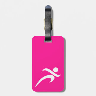 Hot Pink Running; Runner Luggage Tag