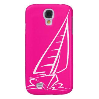 Hot Pink Sailing Galaxy S4 Covers