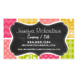 Hot Pink, Salmon, Yellow and Green Cute Checkered Double-Sided Standard Business Cards (Pack Of 100)