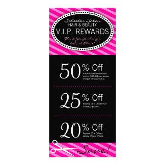 Hot Pink Salon Coupons Rack Card Design