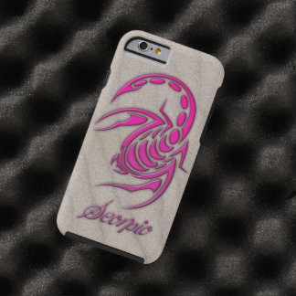 Hot Pink Scorpio on Beach Sand Tough iPhone 6 Case