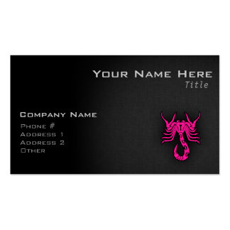 Hot Pink Scorpio Scorpion Zodiac Sign Business Card Template