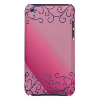 Hot Pink Scroll Design Barely There iPod Cover