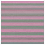 [ Thumbnail: Hot Pink & Sea Green Stripes/Lines Pattern Fabric ]