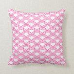Hot Pink Seigaiha Pattern Pillows