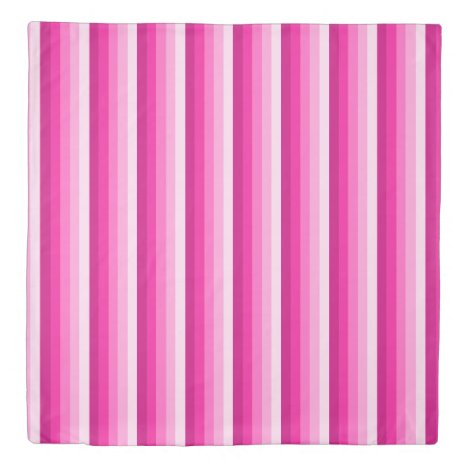 Hot pink shadow stripes duvet cover