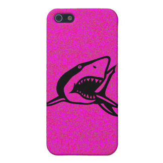 Hot Pink Shark I Case For iPhone SE/5/5s