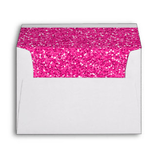 Hot Pink Shimmer Glitter Envelope