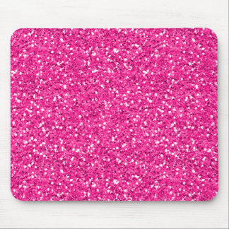 Hot Pink Shimmer Glitter Mouse Pad