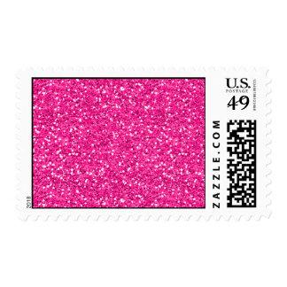 Hot Pink Shimmer Glitter Postage