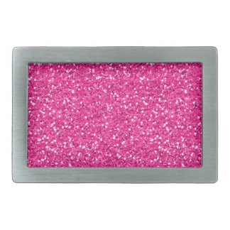 Hot Pink Shimmer Glitter Rectangular Belt Buckle
