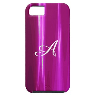 Hot Pink simple Design Monogram iPhone SE/5/5s Case