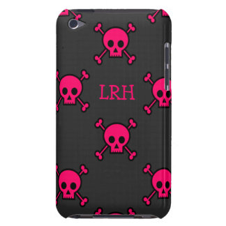 Hot Pink Skull & Crossbones Monogram iPod Touch Cover