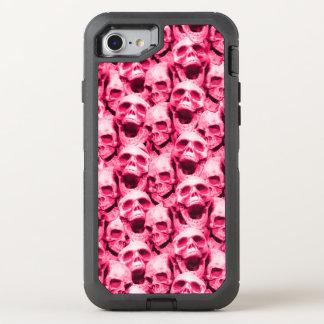 Hot Pink Skulls OtterBox Defender iPhone 8/7 Case