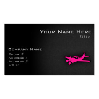 Hot Pink Small Plane Business Card