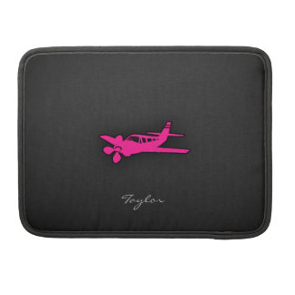 Hot Pink Small Plane MacBook Pro Sleeves