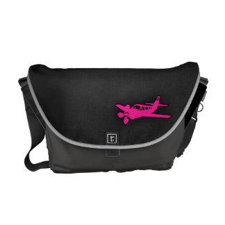Hot Pink Small Plane Messenger Bag