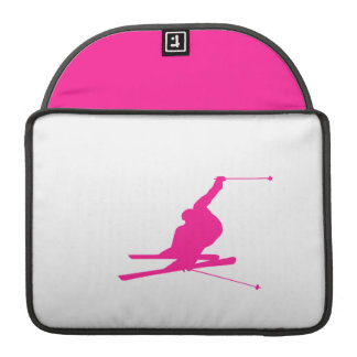 Hot Pink Snow Ski Sleeve For MacBook Pro