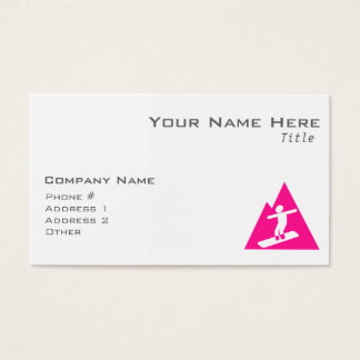 Hot Pink Snowboarding Business Card