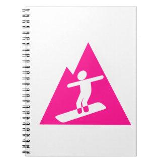 Hot Pink Snowboarding Notebook