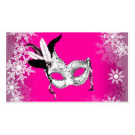 Hot Pink Snowflake Masquerade Party Cards Business Card Templates