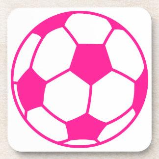 Hot Pink Soccer Ball Coaster