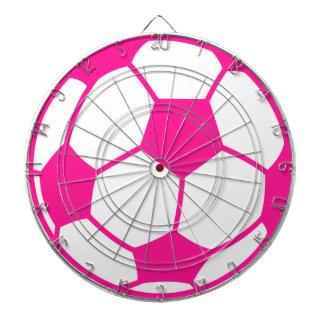 Hot Pink Soccer Ball Dartboard