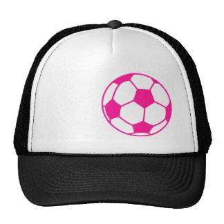 Hot Pink Soccer Ball Trucker Hat