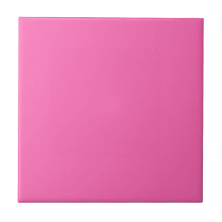 Hot Pink Solid Color Small Square Tile