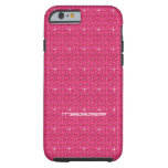 Hot Pink Sparkle & Bling Effect Cellphone Case iPhone 6 Case