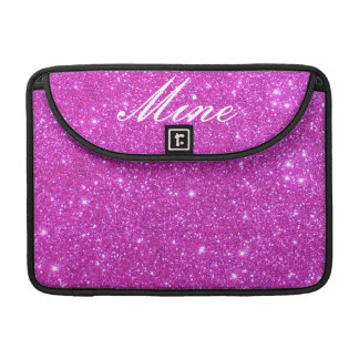 Hot Pink Sparkle Glittery CricketDiane Art Sleeves For MacBooks