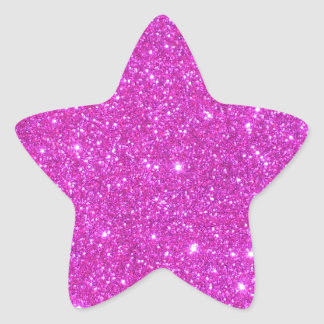Hot Pink Sparkle Glittery CricketDiane Art Star Sticker