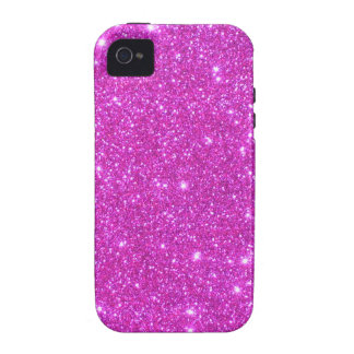 Hot Pink Sparkle Glittery CricketDiane Art Vibe iPhone 4 Covers