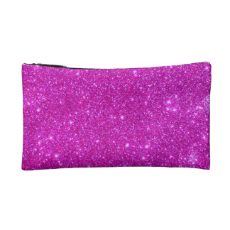 Hot Pink Sparkle Glittery Fun Small Cosmetic Case