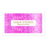 Hot Pink Sparkly FAUX Sequins Makeup Artist Salon Double-Sided Standard Business Cards (Pack Of 100)