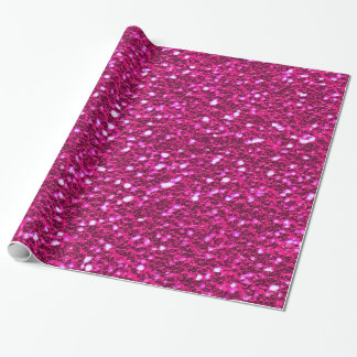 Hot Pink Sparkly Glittery Girly Wrapping Paper