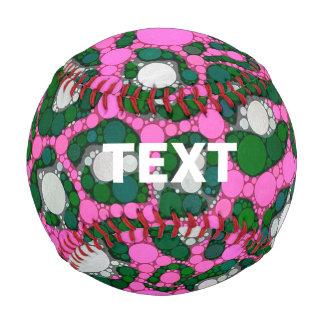 Hot Pink Spearmint Cheetah Abstract Baseball