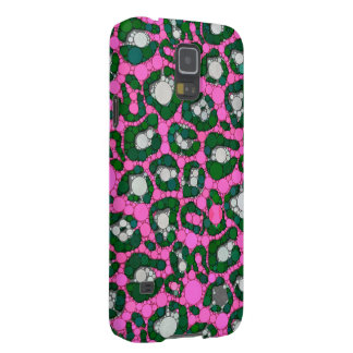 Hot Pink Spearmint Cheetah Abstract Galaxy S5 Cover